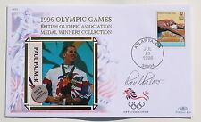 OLYMPIC GAMES ATLANTA 1996 BENHAM COVER SWIMMING SIGNED BY PAUL PALMER