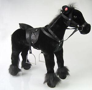 Kinder-Pferd-Reitpferd-Stehpferd-Riesen-Pluesch-Pferd-Pony-Sound-L-oder-XL-Gross