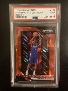 2018 Panini Red Ice Prizm #184 Shai Gilgeous-Alexander Clippers RC Rookie PSA 9