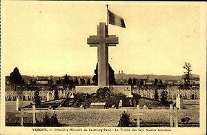Verdun-Frankreich-1920-30-Cimetiere-Militaire-Faubourg-Pave-Soldaten-Friedhof