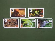 5 WWF Sammelbilder Tierbilder Tierfotos (Nr. 05, 76, 83, 98, 163) vom REWE-Markt