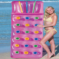 Bestway 74 X 28 Inflatable 18 Cup Designer Fashion Lounger Lilo Swimming Pool