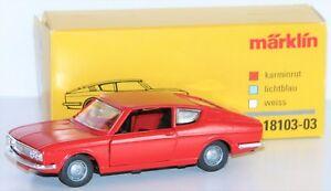 Marklin-1-43-18103-03-Audi-100-Coupe-de-Metal-IN-Rouge-Carmin-Neuf-Emballage