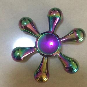Regenbogen-Fidget-Finger-Spinner-Hand-Fokus-Spin-Legierung-EDC-Spielzeug