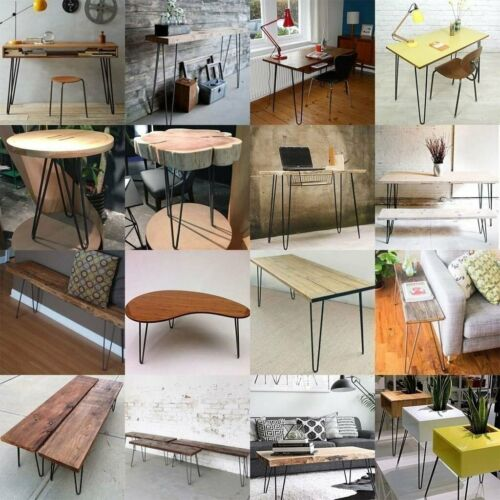 4 x Hairpin Legs Hair Pin Legs Set for Furniture Bench Desk Table Solid Iron