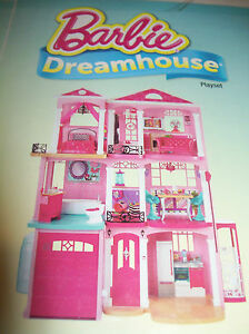 Barbie Dream House Doll House Furnished Pool Garage Elevator 3 Story