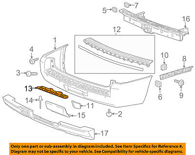 GM OEM Rear Bumper-Support Right 23112266