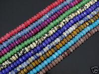 Jade Gemstone 2mm x 4mm Faceted Rondelle Spacer Loose Beads 15.5'' Strand Color