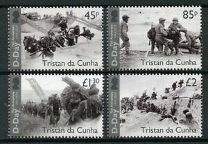 Tristan Da Cunha 2019 Neuf Sans Charnière Wwii Ww2 D-day 75th 4 V Set De Bateaux Navires Militaires Timbres-afficher Le Titre D'origine Techniques Modernes