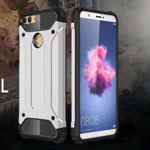 pretty nice 79c40 eabe5 Details about For Huawei P Smart Protective Hybrid Shockproof Hard Armor  Cover Silicone Case