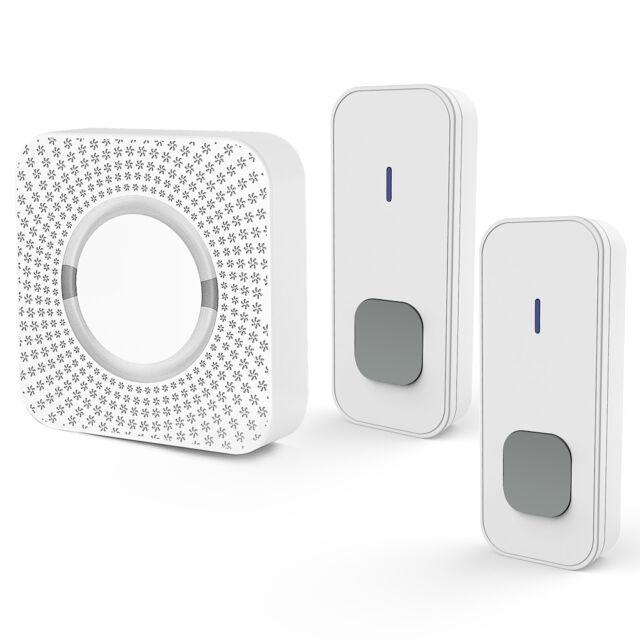 LED Wireless Türklingel Funkklingel Wasserdicht Set 55Melodien Steckdose Ln
