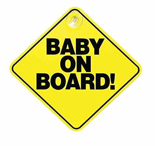 Streetwize Yellow Baby On Board Child Safety Car Rear Window Sign Badge Decal