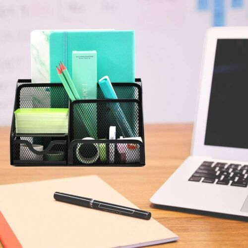 Office Desk Organizer Pen Holder Supplies Table File Desktop Cady w//6 Components