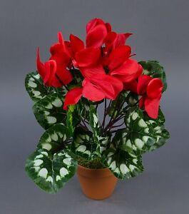 alpenveilchen 36cm rot im topf zf kunstpflanzen kunstblumen k nstliche blume ebay. Black Bedroom Furniture Sets. Home Design Ideas