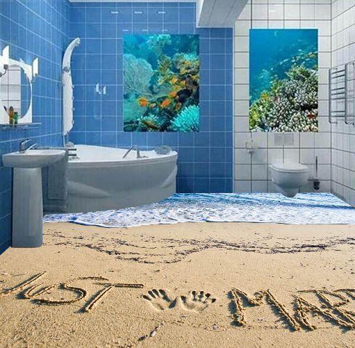 3D sabbia tropicale Pavimento Foto Wallpaper Murales Muro Stampa Stampa Stampa Decalcomania e792da