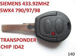 Ford Galaxy Vw Sharan Siemens 433 92mhz 5wk4 Remote Key Fob