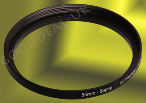 55mm a 58mm 55-58 55-58mm 55mm-58mm filtro de escalonamiento Step Up Anillo Adaptador UK