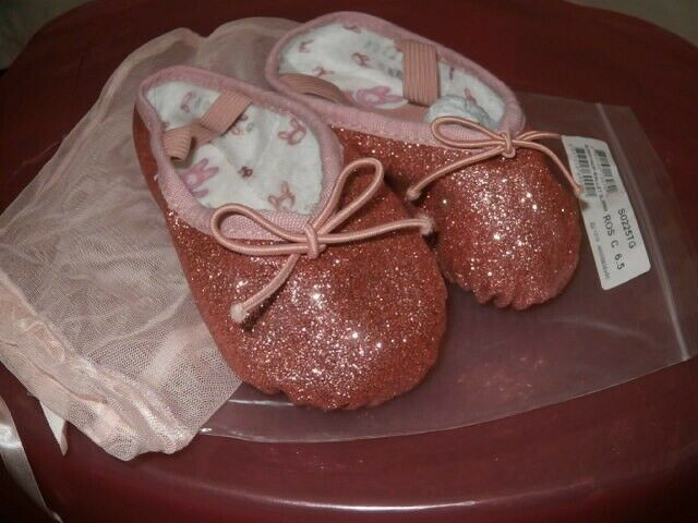 Pink sparkly Ballet shoes brand new never been worn, still in original bag.