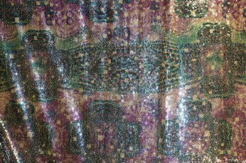 Ethnic Mesh Sequin All Over #47 Stretch Polyester Spandex Lycra Fabric BTHY