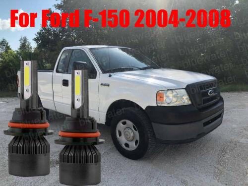 LED For Ford F-150 2004-2008 Headlight Kit H13 6000K White Bulbs High//Low Beam