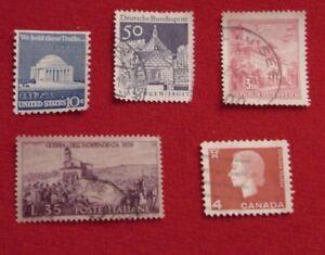 International Stamps Starter Kit Usa Canada Austria Italy Germany Ebay