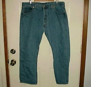 Para Hombre Levi S 501 Blue Jeans Pantalones Peto Cierre De Botones Talla 40 X 30 Ebay