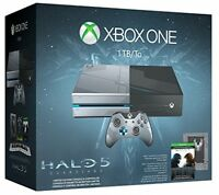 Microsoft Xbox One Halo 5: Guardians Limited Edition 1 TB Black & Silver Console Video Game Consoles