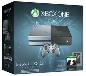 Microsoft Xbox One Halo 5: Guardians Limited Edition 1 TB Black & Silver Console
