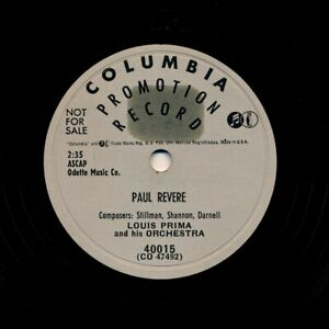 LOUIS-PRIMA-1953-Columbia-40015-Paul-Revere-It-039-s-Good-As-New-I-Painted-It