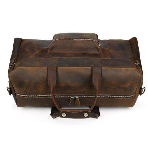 Cuir véritable grand Voyage Bagages à main Duffel Sac de Gym Holdall Carry on suitacase