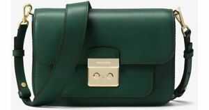 ac5877495b7b New Michael Kors Racing Green Large Sloan Editor Leather Shoulder ...