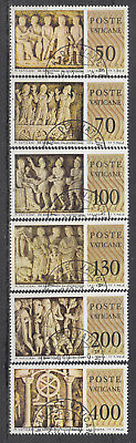 "Vatikan 1977 "" Sarkophage "" Mi 3 2291 Nr: 711-16 Gest."