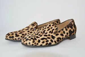 WOMAN-DONNA-41eu-SLIPPER-PANTOFOLA-LEOPARD-PONY-PONY-LEOPARDATO-LEATHER-SOLE
