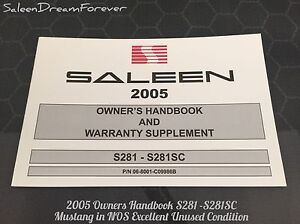 Image Is Loading  Saleen Mustang Owners Manual Brochure Ford Gt