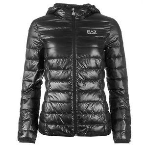 dd8911c7 Details about EA7 EMPORIO ARMANI WOMENS ULTRA LIGHTWEIGHT HOODED DOWN  JACKET SLIM FIT L , XL
