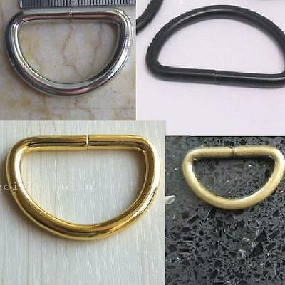 "2 5 10 Non Welded D Dee Ring 4 Ribbon Nylon Webbing Buckles 1"" 1.5"" 25mm 38mm CC"