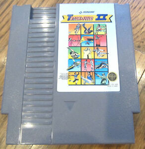 Vintage-Track-And-Field-Ii-2-Konami-Nintendo-Game-Cartridge-Konami