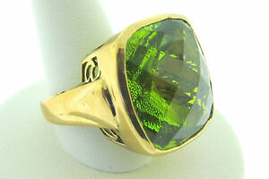 Sajen-Bronze-Ring-by-Marianna-Richard-Jacobs-Square-Shape-Green-Quartz-Triplet