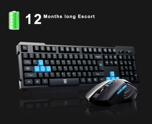 Wireless Gaming Keyboard And Mouse Combo USB Bundle Kit Set Waterproof For PS4