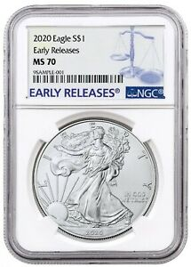 2020-1oz-Silver-Eagle-NGC-MS70-Early-Releases-Blue-Label