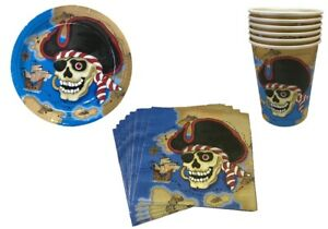 Pirate-Party-Pack-Plates-Cups-Serviettes-Bundle-Party-Tableware-6-Person