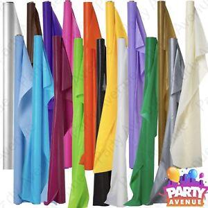 DéLicieux 100 Ft (environ 30.48 M) Plastique Banquet Roll Mariage Fête Catering Table Cover Cloth Amscan-afficher Le Titre D'origine