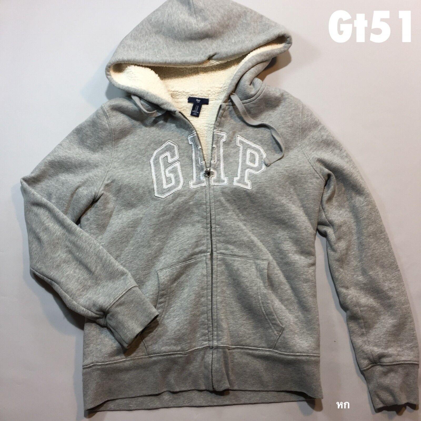 Gap Womens Zip Up Fleece Hoodie Top Size M P-P 20 Length 23