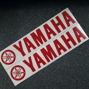 "Yamaha decals RED stickers 13"" fz srx keyboard r1 r6 yzf 600 8 waverunner r3 sr"