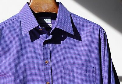 Thomas Pink XL Violet Woven Superfine Two-Fold Cotton LS Shirt -Ireland- $225.00