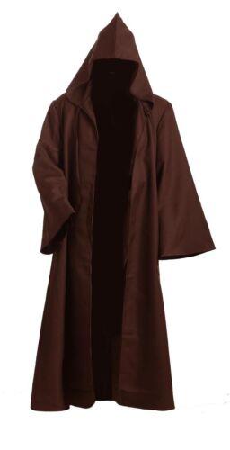 Star Wars Adult Hooded Jedi Brown//Black Robe Halloween Cosplay Costume S-3XL