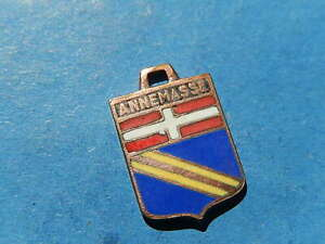 Vintage Enamel french Travel Shield Charms  ANNEMASSE COAT OF ARMS VITAM