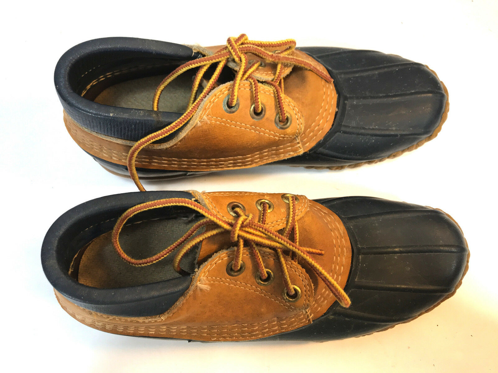 LL BEAN Maine Hunting Hunting Hunting schuhe in navy Blau & leather ankle Stiefel 6 FREE SHIPPING df1321