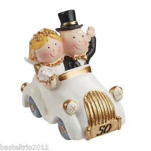 Goldpaar Im Auto Tortenaufsatz Brautpaar Diamant Hochzeit