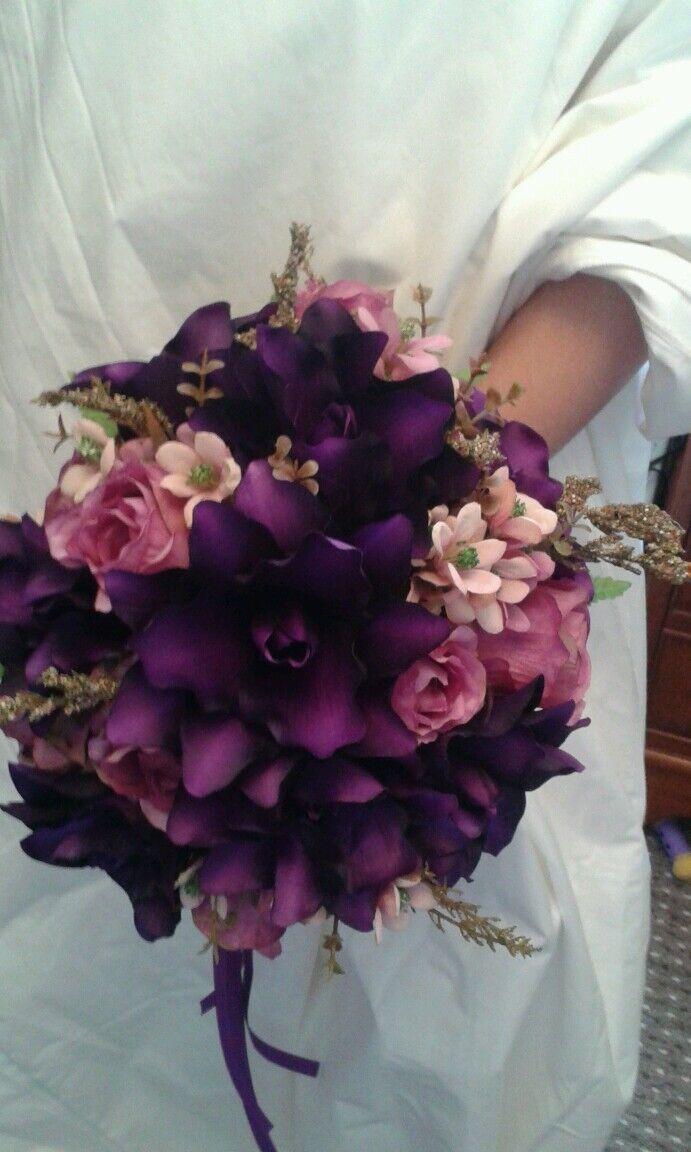 CADBURY'S lila BRIDAL BOUQUET WEDDING